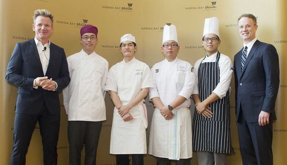 Chef Gordon Ramsay di Marina Bay Sands