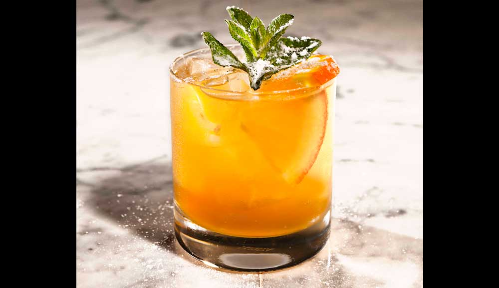 Koktail Whiskey Smash - Amaro Bar di Osteria Mozza