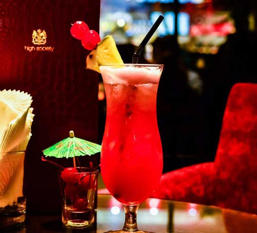 Singapore Sling di High Society, Marina Bay Sands