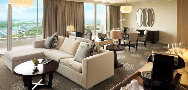 Hotel Suite Lounge di Marina Bay Sands