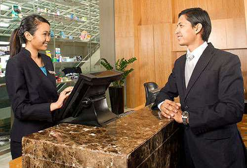 Meja Meetings Concierge di Marina Bay Sands