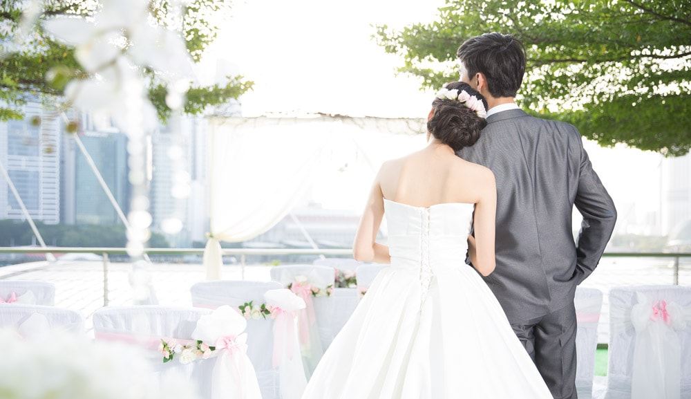 Sesi Foto MICE Wedding di Marina Bay Sands