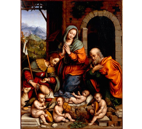 Adoration of the Child with Saint Roch karya Giampietrino (Gian Pietro Rizzoli)