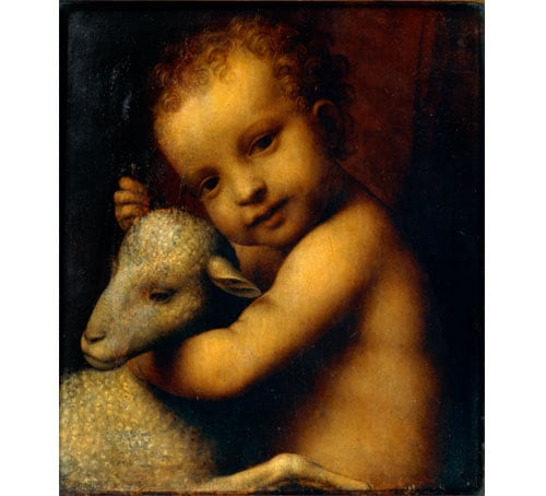 Christ Child with the Lamb karya Bernardino Luini