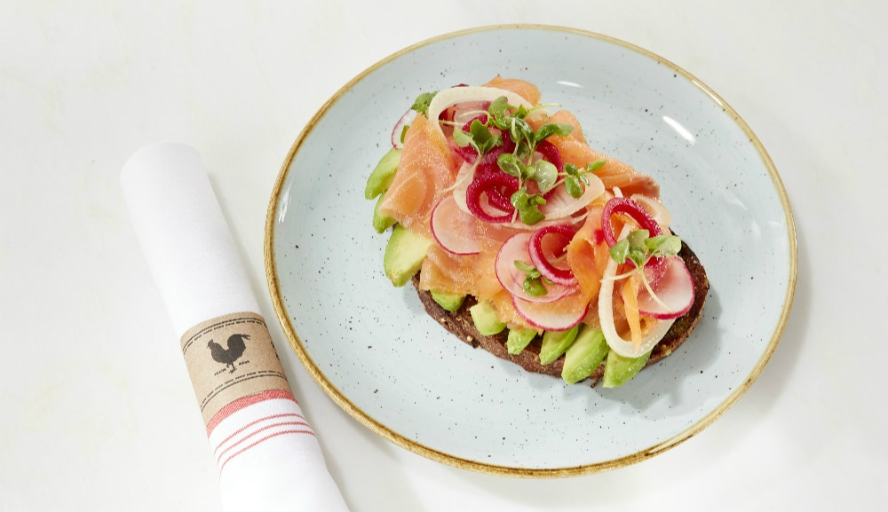 Smoked Salmon Avocado Toast Yardbird at Marina Bay Sands
