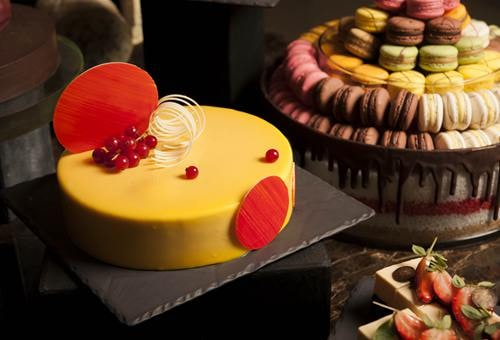 Club55 - Cheese and Chocolate Bar, Passion Fruit White Chocolate Mousse Cake