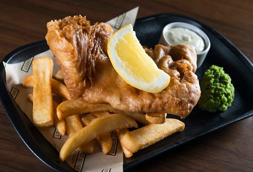 Fish and Chips di Bread Street Kitchen