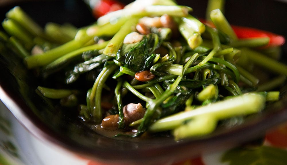 Stir-fried Siamese Watercress with Yellow Beans