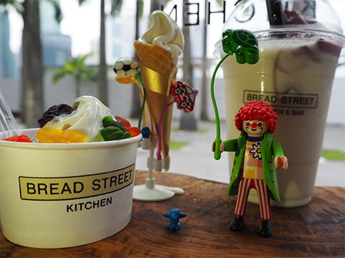 Ice Cream di Bread Street Kitchen di Marina Bay Sands