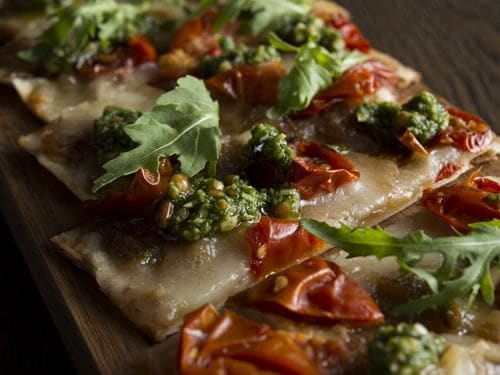 Bread Street Kitchen Set Lunch Specials - Flatbread, Caramelized Onions, Taleggio Cheese