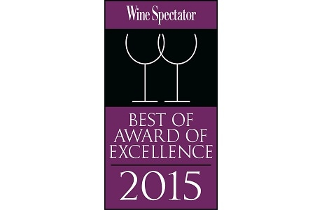 Award of Excellence 2015 - Wine Spectator