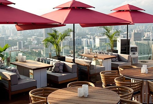 CE LA VI Bar di Sands SkyPark di Marina Bay Sands