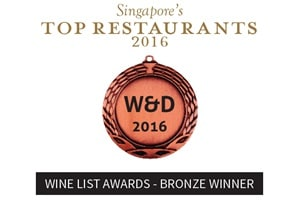 Wine List Awards - Peraih Perunggu