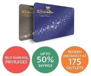 Kartu keanggotaan Sands Rewards LifeStyle