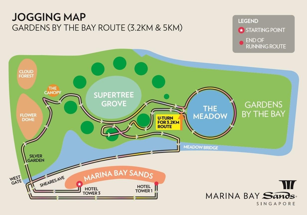 Jog Di Sekitar Marina Bay Singapura Marina Bay Sands