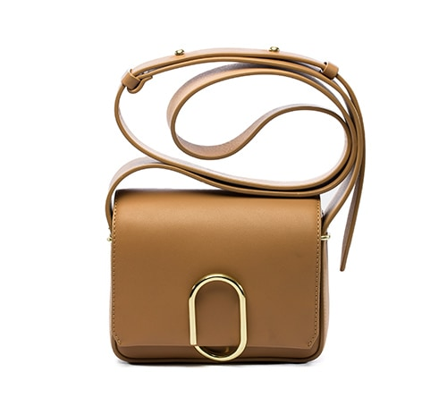 3.1 Phillip Lim: ALIX Flap Mini Crossbody warna Camel
