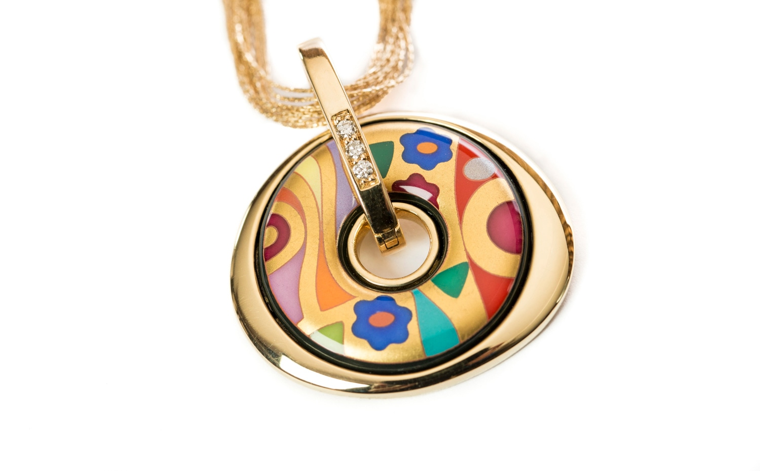 FREY WILLE: Hommage à Gustav Klimt Collection - HOPE Collection Necklace
