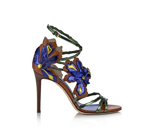 Jimmy Choo - LOLITA Canyon Mix Mirror Leather and Vaccetta Sandals at Marina Bay Sands