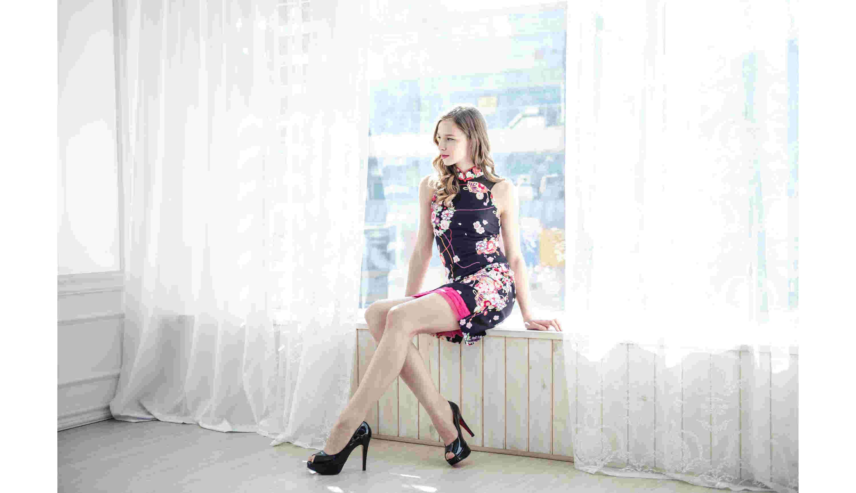 BLUM - Weekend Wear - Cherry Blossom Printed Cheongsam